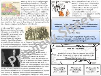 U.S. History - Nationalism - The Missouri Compromise