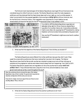 US History: The Radical Republicans