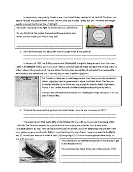 US History: The Road to World War I