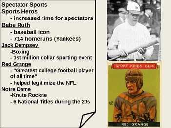 US History The Roaring 20s and Society