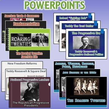 Roaring 20's Unit / Roaring 20s & Progressive Era *Unit Bundle* (U.S. History)
