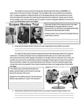 US History: The Scopes Monkey Trial