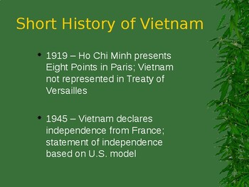 Vietnam's Quest for Independence PowerPoint (U.S. History / World History)