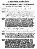 US History - Thematic Essay Topic 15/20 Body Outline Example
