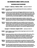 US History - Thematic Essay Topic 19/20 Body Outline Example
