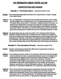 US History - Thematic Essay Topic 6/20 Body Outline Example