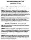US History - Thematic Essay Topic 6/20 Body Outline Example - SPANISH