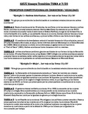 US History - Thematic Essay Topic 7/20 Body Outline Example - SPANISH