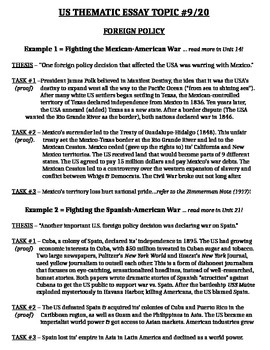 possible thematic essays us history