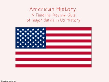 U.S. History Timeline Review Activity