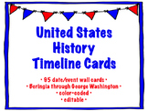 US History Timeline Wall Cards