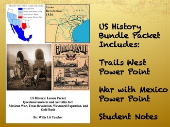 US History: Trails West and More! Bundle