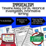 US History U.S. Imperialism Timeline & Writing with Google Link