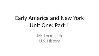 US History: Unit 1: Part 1