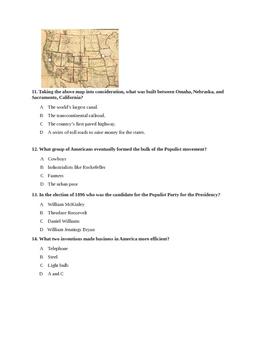 US History Unit 2 Test-Industrialization and Progressivism