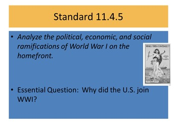 US History Unit 3-Imperialism and WWI