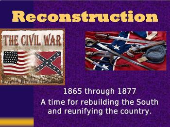 Civil War & Reconstruction Unit