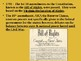"""US History Unit 4 """"Creating a Government"""" Power Point Bundle"""
