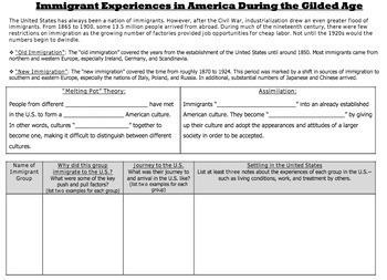 United States History -  Gilded Age Unit