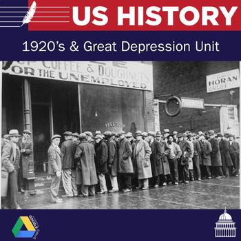 United States History - 1920's & Great Depression Unit