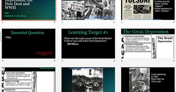 US History Unit 7- The Great Depression, the New Deal, and WWII