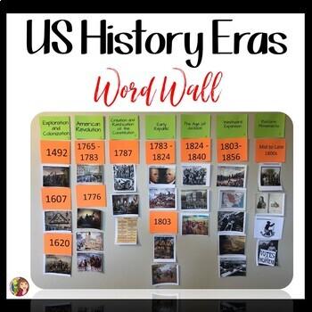 US History VOCABULARY and ERA BUNDLE