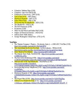 US History Video Clip List, Discovery - French and Indian War (1492-1763)