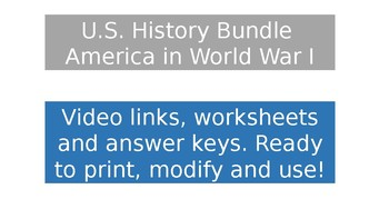 US History Video Clips - America in WWI
