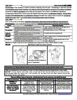 US History Virginia SOL 3. American Indians ELEVEN pages