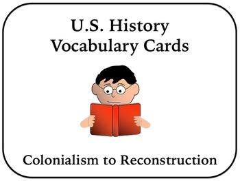 US History Vocabulary Cards