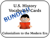 US History Vocabulary Cards Bundle