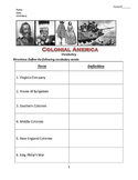 US History Colonial America Vocabulary