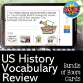 US History Vocabulary Review Bundle of Boom Cards