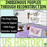 US History Vol. 1 No Prep Unit Bundle; Distance Learning;