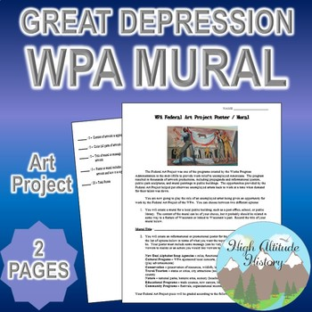 WPA Art Project Poster Assignment Mural (United States History)