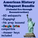 American History Webquest Bundle (Colonies through Reconst