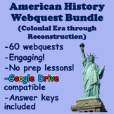 American History Webquest Bundle (Colonial America through Reconstruction)