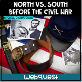 US History Webquest Lesson Plan: North Vs. South Before the Civil War