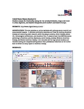 U.S. History Websites