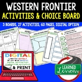 US History Western Expansion Activities, Choice Board, Print & Digital, Google