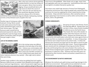 U.S. History - Western Expansion - The California Gold Rush