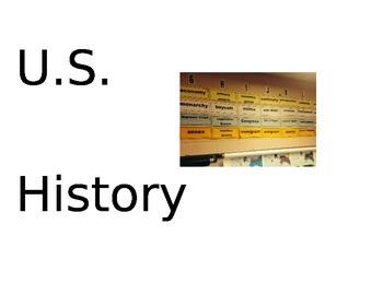U.S. History Word Wall
