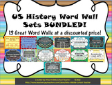 US History Word Wall Sets BUNDLED!