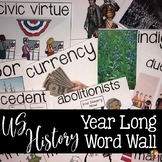 US History Word Wall Terms for the Entire Year with Google