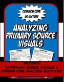 US History Working with Primary Source VISUALS Activity Bundle