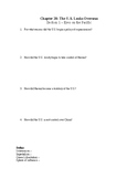 US History Worksheet: The United States Looks Overseas (Ch
