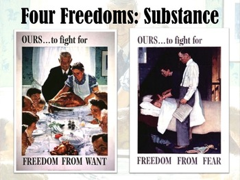 US History/World History: FDR's Four Freedoms Speech & Lend-Lease Act