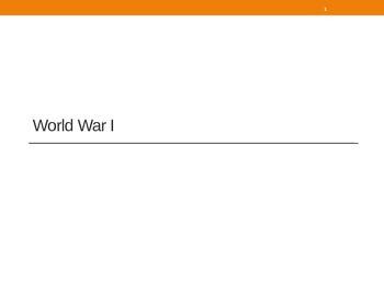 US History: World War I