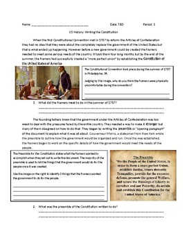 US History: Writing the Constitution