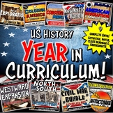 US History Year in Curriculum Mega Bundle Common Core Grad